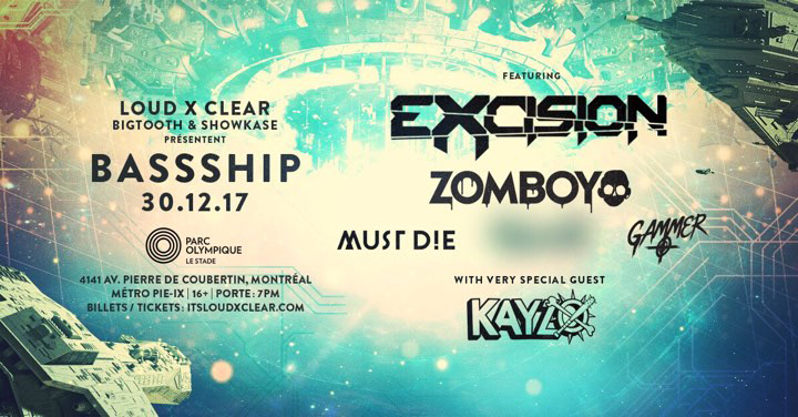 Billets / Tickets BassShip Montreal 2017